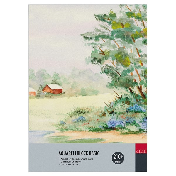 Aquarellblock Basic 210 g/ m²