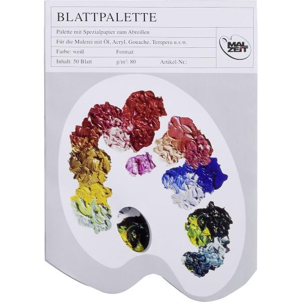 Blattpalette 80 g/m², 50 Blatt