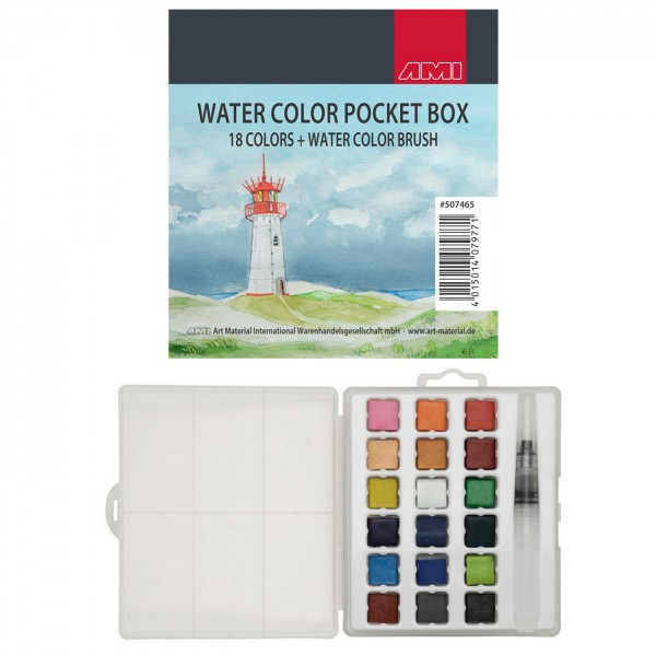 AMI Watercolor Pocket Box 18+1