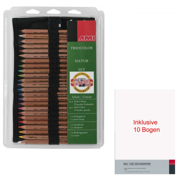 349018 - Triocolor natur Stifte Set