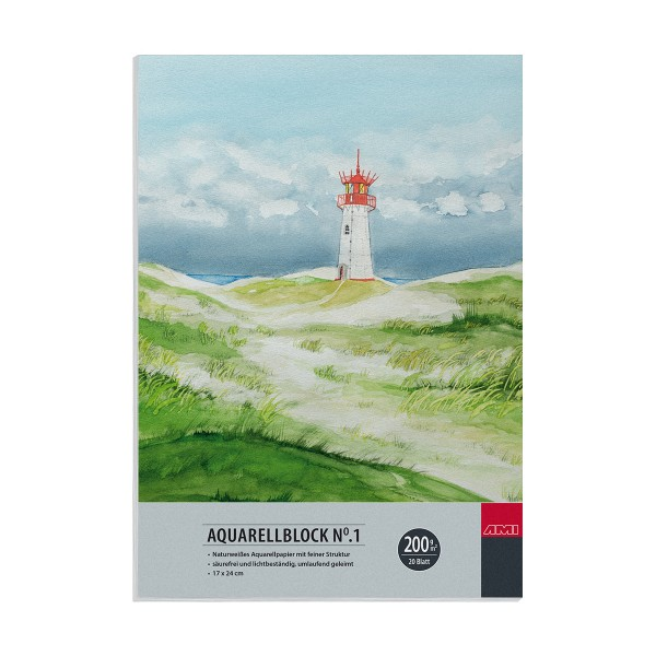 Aquarellblock No.1 200 g/m²