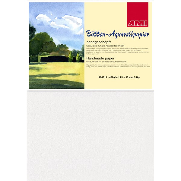 Bütten-Aquarellpapier 400 g/m²