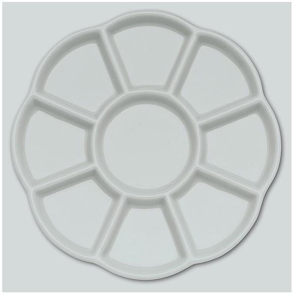Porzellanpalette Ø 14,0cm, 9 Näpfe