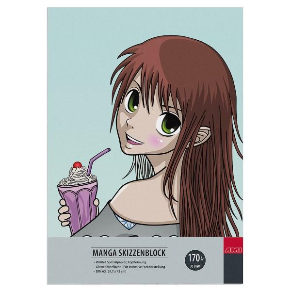 Manga Skizzenblock 170 g/m²