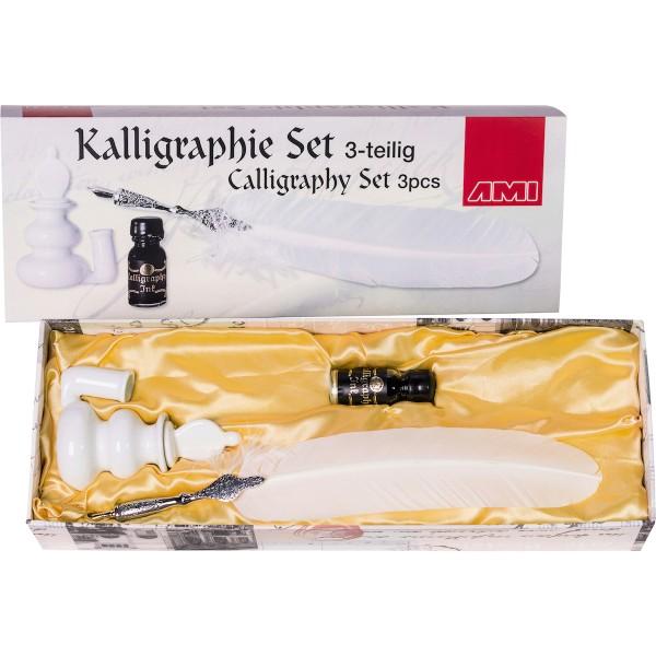 Kalligraphie Set 3tlg. weiß