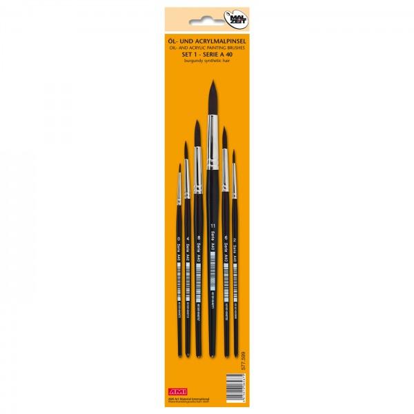 Öl- u. Acrylmalpinsel Serie A40 Set 1