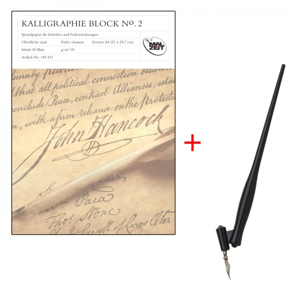 Kalligraphieblock A4, Set Oblique