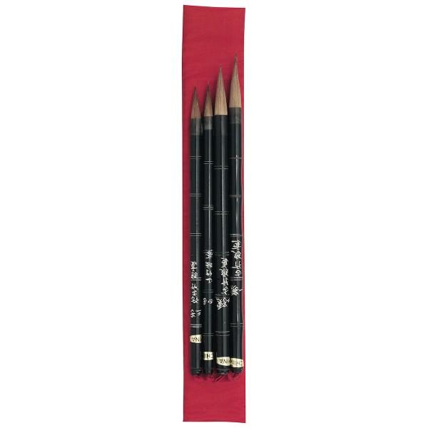 China Pinsel Set Nr.21, 4 Pinsel
