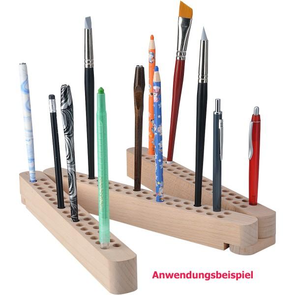 Stifte- u. Pinselhalter Holz