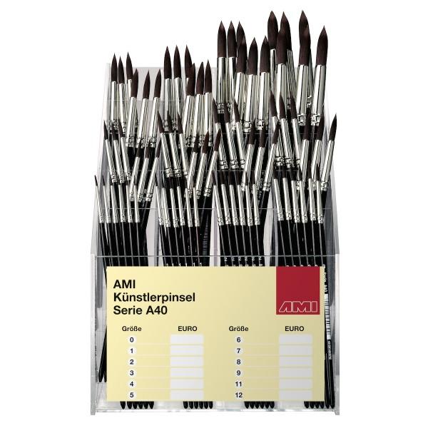 Öl- und Acrylmalpinsel Serie A40 Display