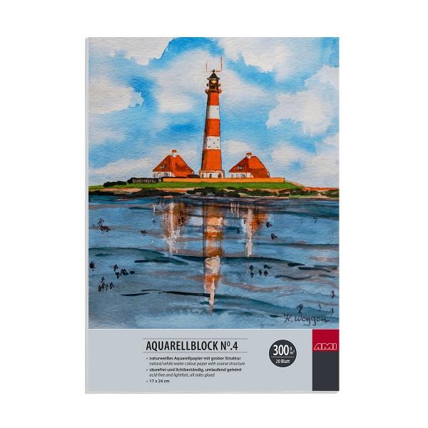 Aquarellblock No.4, 300g, 20 Blatt