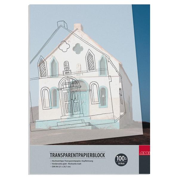 Transparentpapierblock 100 g/m²