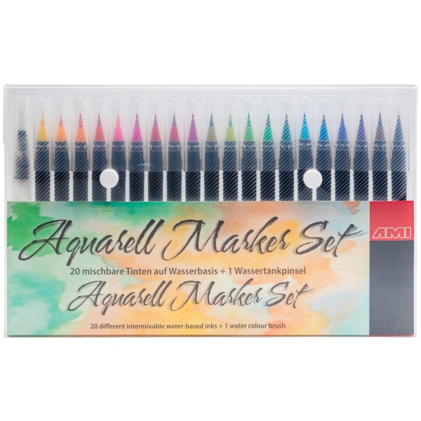 Aquarell Brush Pen Set 20 + 1