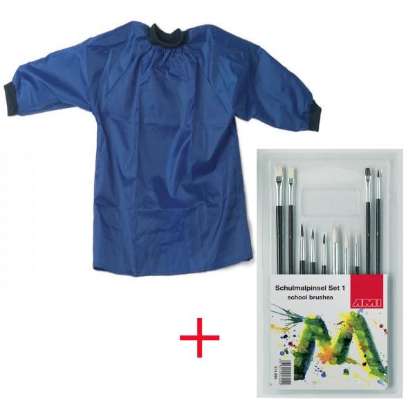 Kinderkittel Nylon Gr.134-152 + Pinselset