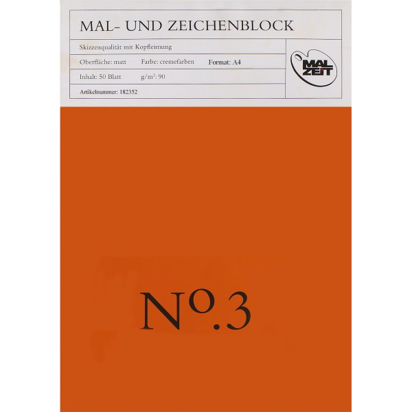 Mal- u. Zeichenblock No.3 90 g/m²