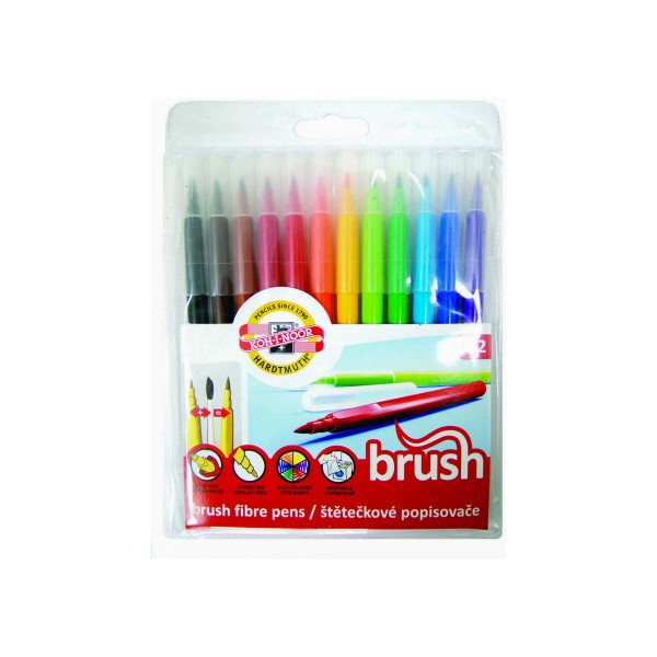 Koh-I-Noor Brush Pen Set 12 Farben