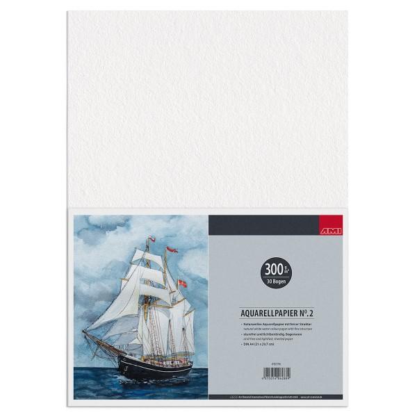 Aquarellpapier No.2 300 g/m²