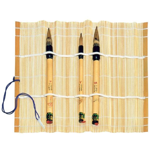 Pinselmatte Bambus 28x28cm natur