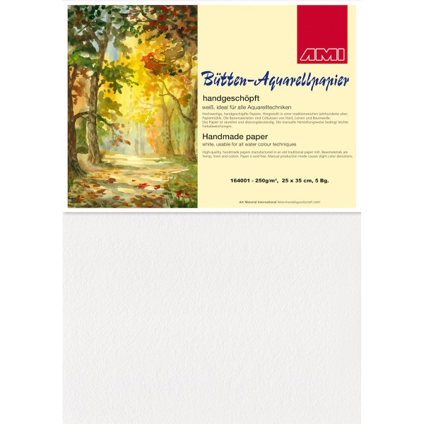 Bütten-Aquarellpapier 250 g/m²