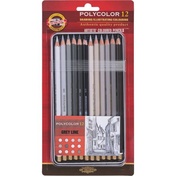 Polycolor Set 3822 Grautöne