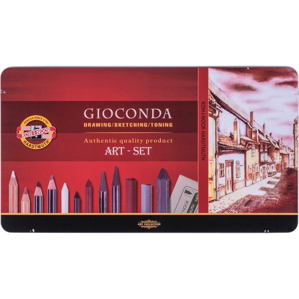 Gioconda Art Set 39tlg., P - Metalletui