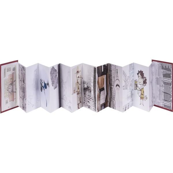 AMI Skizzen-Leporello A6, 22 Seiten